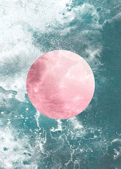 Komar Poster »Solum Aqua«, Abstrakt, Höhe: 70cm