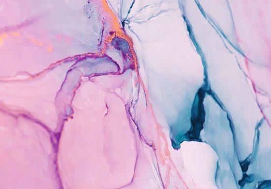 CONSALNET Vliestapete »Zerbrochenes Glas/Rosa«, in verschiedenen Größen