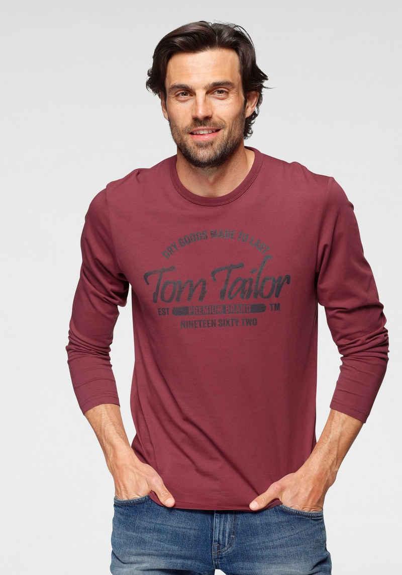 TOM TAILOR Langarmshirt mit Logofrontprint