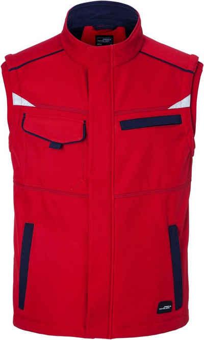 James & Nicholson Softshellweste »Workwear Sommer Softshell Gilet FaS50852«