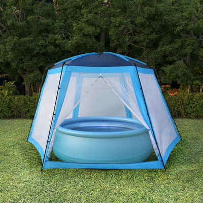 vidaXL Poolüberdachung »vidaXL Poolzelt Stoff 590 x 520 x 250 cm Blau«