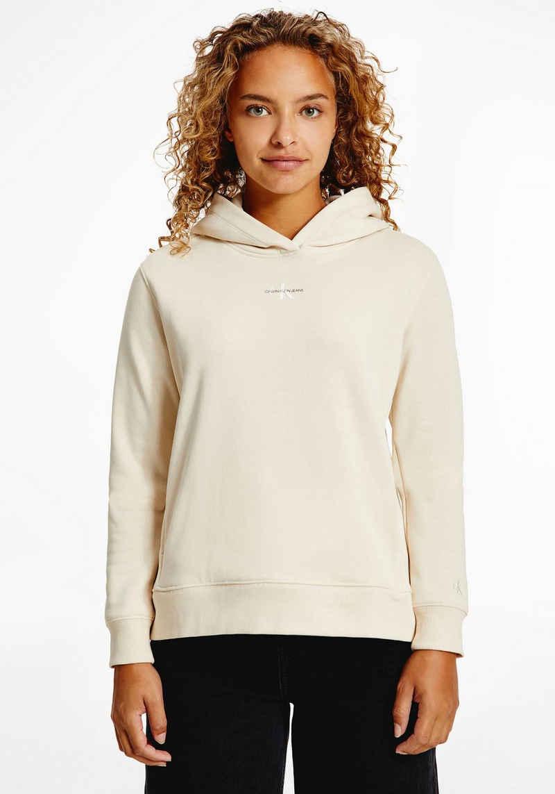 Calvin Klein Jeans Kapuzensweatshirt »MICRO MONOGRAM HOODIE« mit CK Micro Logo-Monogramm & Schriftzug