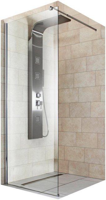 Duschen und Zubehör - welltime Duschwand »Duschabtrennung«, Sicherheitsglas, Breite 80 cm  - Onlineshop OTTO