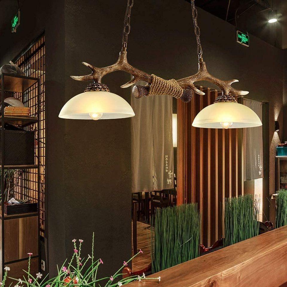 ZMH Pendelleuchte »Geweih Vintage Holz 2  E27 LED Lampe Hängelampe« online kaufen   OTTO