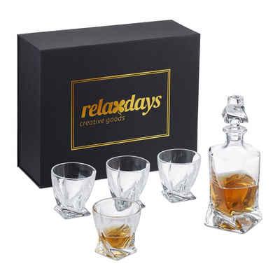 relaxdays Whiskyglas »Whisky Gläser Set mit Karaffe«, Glas