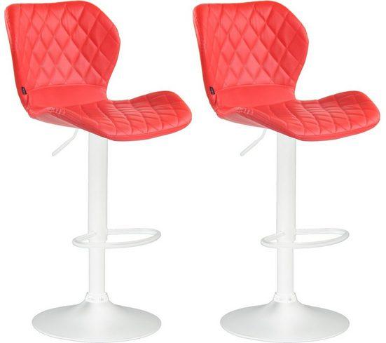 CLP Barhocker »Cork Kunstleder« (Set, 2er), höhenverstellbar und 360 Grad drehbar