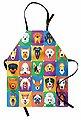 Abakuhaus Kochschürze »Höhenverstellbar Klare Farben ohne verblassen«, Hund Terrier Labrador Rasse Haustiere, Bild 1