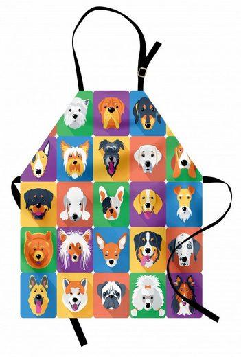 Abakuhaus Kochschürze »Höhenverstellbar Klare Farben ohne verblassen«, Hund Terrier Labrador Rasse Haustiere