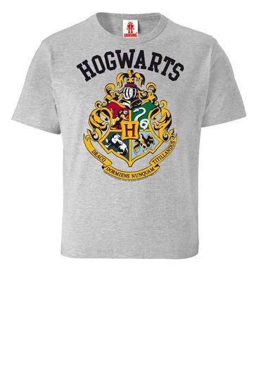 LOGOSHIRT T-Shirt mit lässigem Frontprint »Hogwarts«
