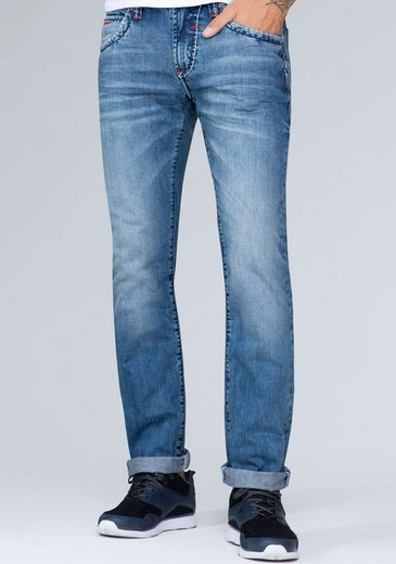 CAMP DAVID 5-Pocket-Jeans mit authentischer Waschung