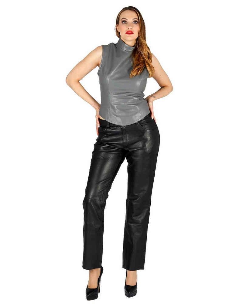 Fetish-Design Lederhose »Lederhose 5-Pocket Schwarz Damenlederhose Echtes Leder«