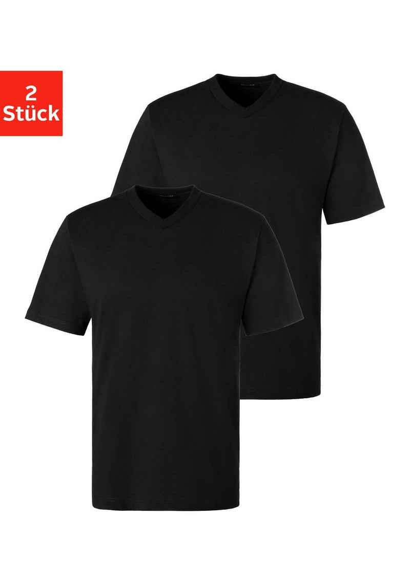Schiesser V-Shirt (2er-Pack) Basic zum Unterziehen