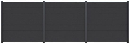 Kiehn-Holz Set: Sichtschutzelement BxH: 540x180 cm, Pfosten zum aufschrauben
