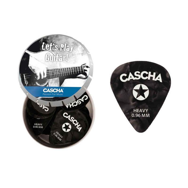 Cascha Plektrum »Gitarren Plektrum Set Heavy«, 24 Stück in Metallbox