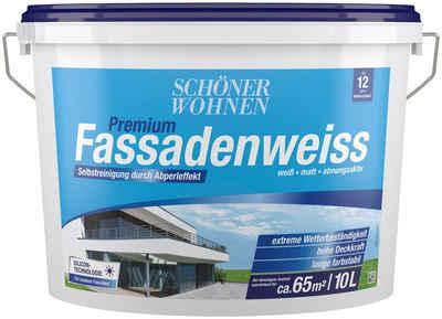 SCHÖNER WOHNEN-Kollektion Fassadenfarbe »Premium-Fassadenweiss 10 l«, höchst wetterbeständig und strapazierfähig, Silikonharzbasis