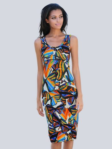 Alba Moda Strandkleid mit sommerlichem Druck