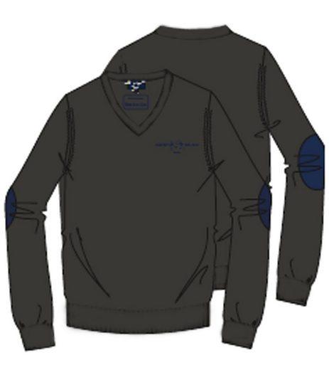 Harvey Miller Rundhalspullover »HARVEY MILLER POLO CLUB Strick Sweater bequemer Herren V-Neck Pullover Anthrazit«