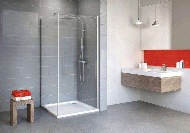 Duschen und Zubehör - Schulte Eckdusche »Alexa Style 2.0«, BxT 80x80 cm, Sicherheitsglas, Set, mit Drehtür  - Onlineshop OTTO