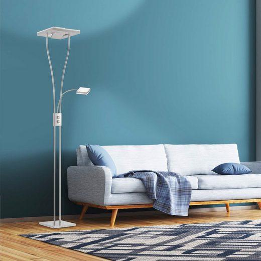 SellTec LED Deckenfluter »HELIA«, doppelter Fluterkopf, dimmbar, flexible Leselampe