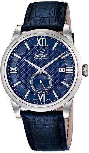 Jaguar Chronograph »UJ662/7 Jaguar Herren Uhr Elegant Quarz J662/7«, (Analoguhr), Herren Armbanduhr rund, Lederarmband blau, Elegant