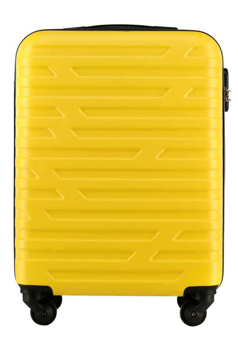 Wittchen Handgepäckkoffer »A-Line II Kollektion«, 4 Rollen, vier Rollen, Hartschalenkoffer, Teleskopgriff, Zahlenschloss