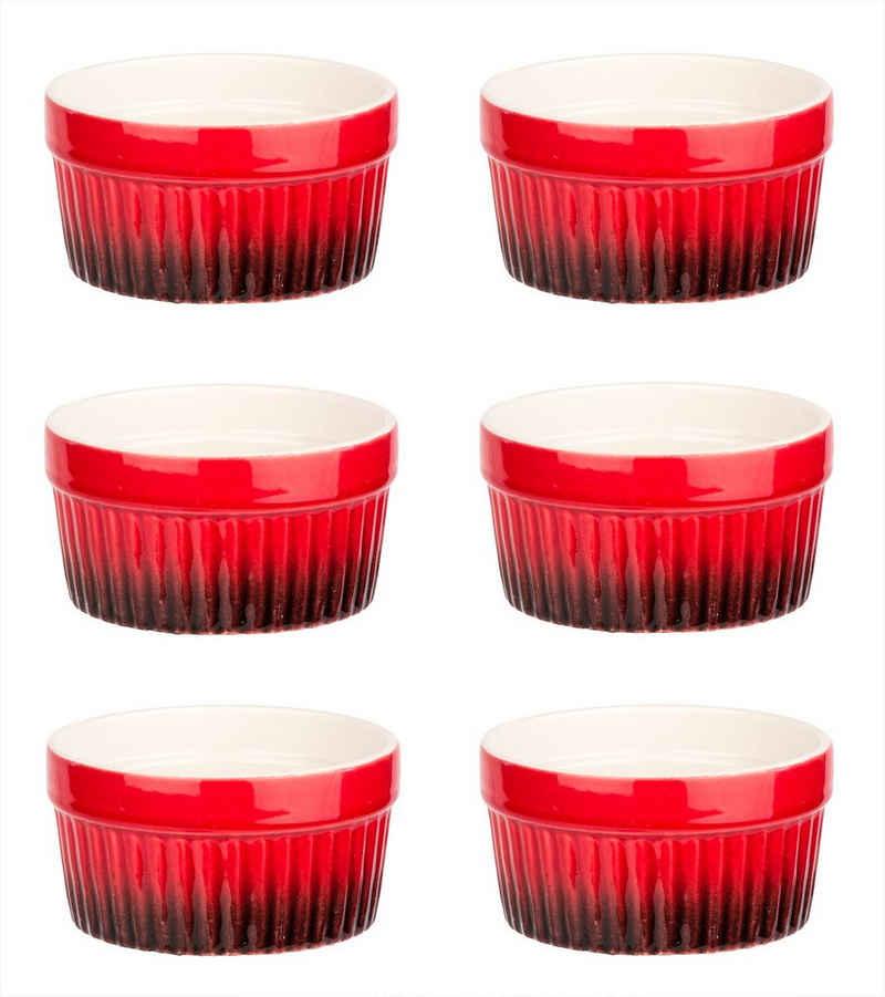 BigDean Dessertschale »Ragout Fin−Schalen − Ofenfeste Förmchen aus Keramik − Schälchen für Crème Brûlée, Soufflé & Dessert«, Keramik, (6-tlg)