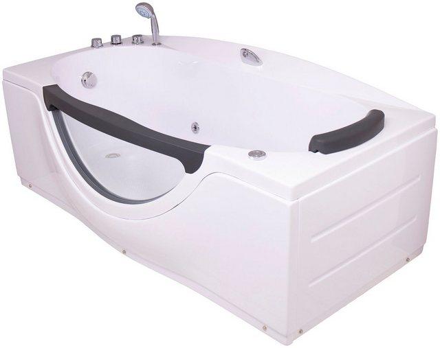 Badewannen und Whirlpools - Sanotechnik Whirlpool Badewanne »NASSAU«, (4 tlg), 170 90 68 cm, Whirlpool mit Fenster  - Onlineshop OTTO