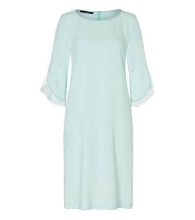 Laurèl Midikleid »Laurél Midi-Kleid festliches Damen Jersey-Kleid Sommer-Kleid mit kontrastfarbenen Streifen an der Seite Mint/Weiß«