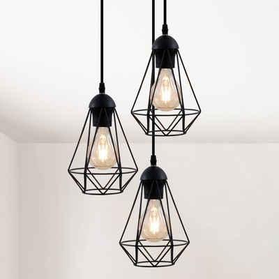 LED Retro Industrial Kronleuchter Deckenleuchte Hängelampe Leuchte E27 Eisen