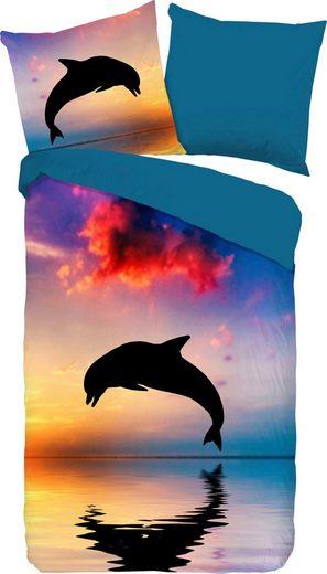 Kinderbettwäsche »Dolphin«, good morning, mit Delphin