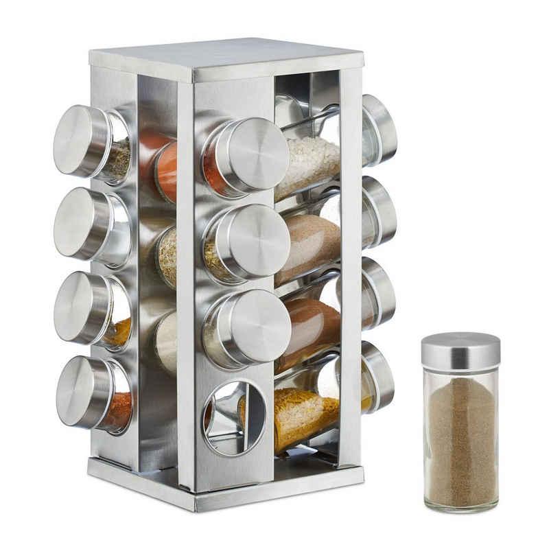 relaxdays Gewürzkarussell »Gewürzkarussell mit 16 Gläsern«