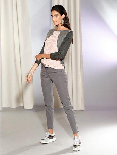 Amy Vermont 7/8-Jeans mit seitlichem Zierband