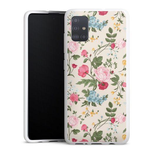 DeinDesign Handyhülle »Vintage Beauty« Samsung Galaxy A51, Hülle Vintage Ornamente Blume