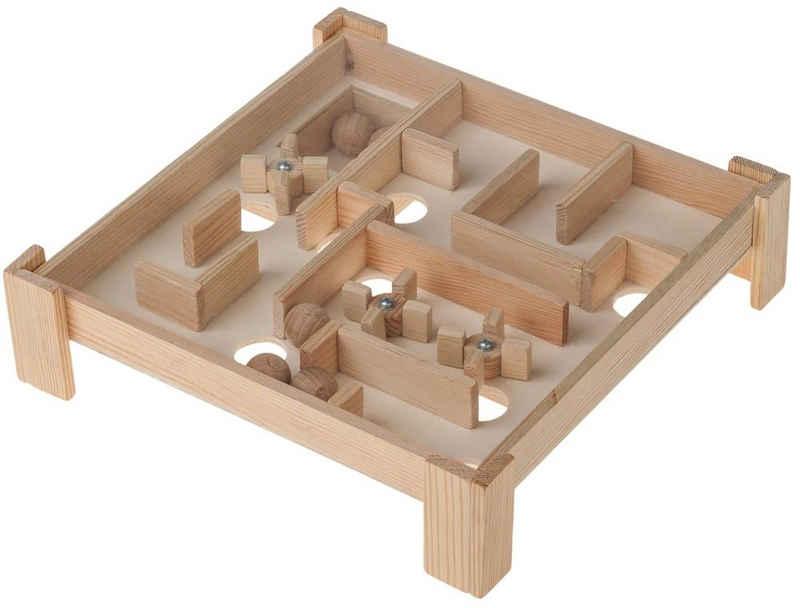 matches21 HOME & HOBBY Holzbaukasten »Labyrinth Bastelset Holzbausatz Kreativset Holz«, Komplettes Material-Set, siehe Artikelbeschreibung