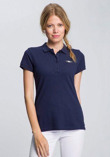 TOM TAILOR Polo Team Poloshirt mit Logodruck auf Brusthöhe