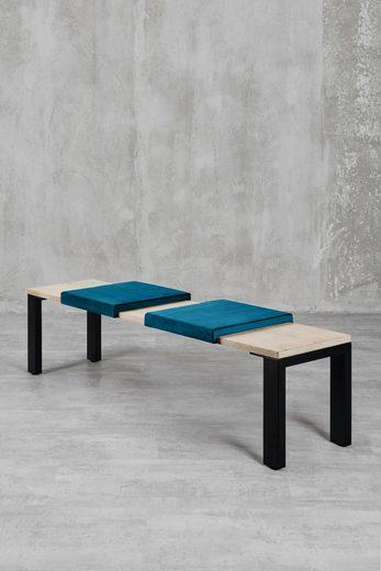 carla&marge Bankauflage »Feels«, Klemmkissen(2er Set),für eine Sitzbanktiefe von 37cm