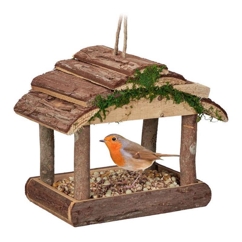 relaxdays Vogelhaus »Vogelfutterhaus zum Aufhängen«