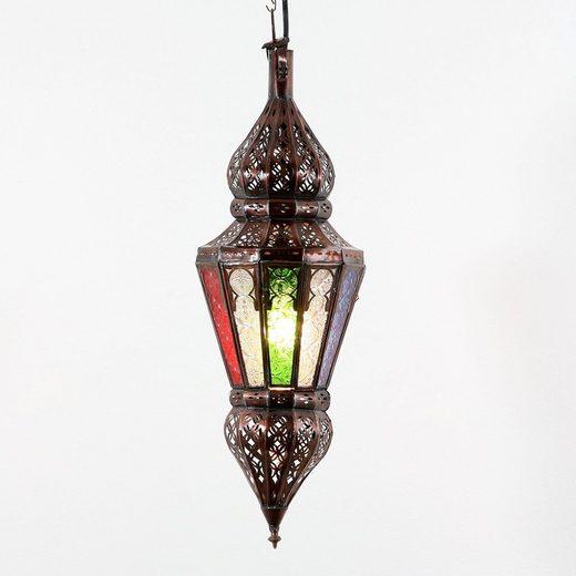 Casa Moro Deckenleuchte »Arabische Pendelleuchte marokkanische Hängelampe Nura Multi H54 cm aus Metall & Relief-Glas, Echtes Kunsthandwerk aus Marokko, Handmade Lampe schöne orientalische Dekoration, L1810«
