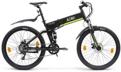 "LLobe E-Bike »FML-830 black 27,5"", 10,4 Ah«, 9 Gang Shimano, Kettenschaltung, Heckmotor 250 W"