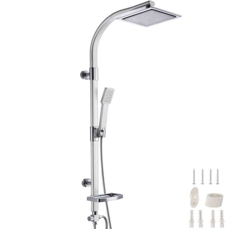 tectake Duschsäule »Duschsystem Regendusche mit Handbrause und«