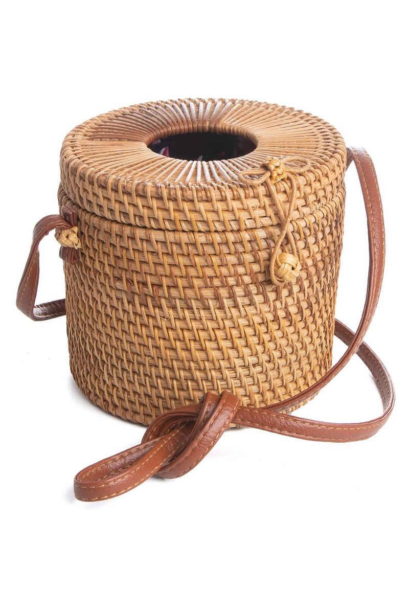 CASSANDRA Korbtasche »Bali Bag« (1-tlg), in ausgefallener Zylinderform