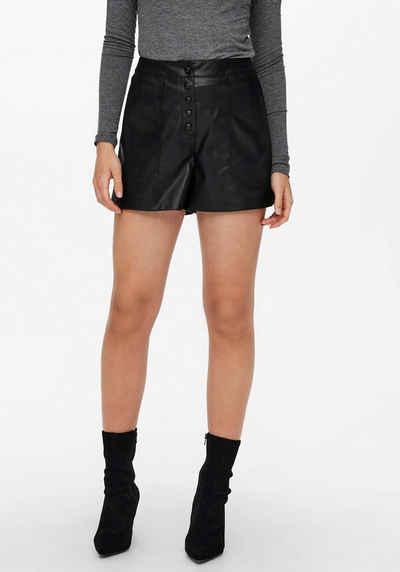 Only Shorts »ONLSANDY FAUX LEATHER SHORTS« aus Lederimitat