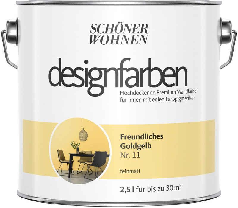 SCHÖNER WOHNEN-Kollektion Wand- und Deckenfarbe »Designfarben«, Freundliches Goldgelb Nr. 11, feinmatt 2,5 l