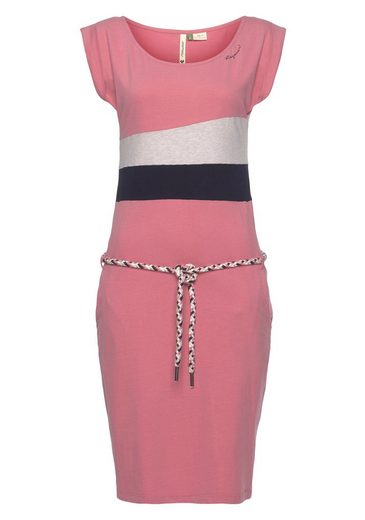 Ragwear Shirtkleid »TARAYA ORGANIC« (2-tlg., mit abnehmbarem Gürtel) im Color-Blocking Design