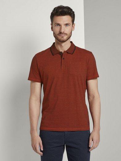 TOM TAILOR Poloshirt »Eingefärbtes Poloshirt mit Streifenmuster«