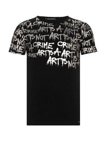 Cipo & Baxx T-Shirt mit Grafiti-Aufdruck