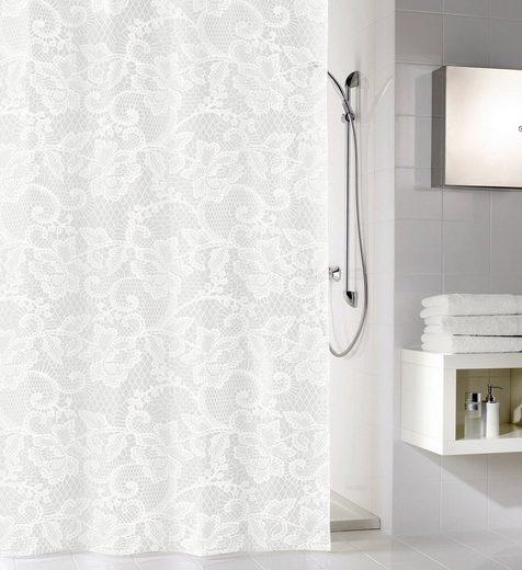 KLEINE WOLKE Duschvorhang »Weiß«, Breite 180 cm