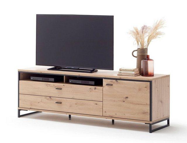 TV Möbel - expendio TV Board »Mendoza 6«, Balkeneiche 183x60x50 cm montiert  - Onlineshop OTTO