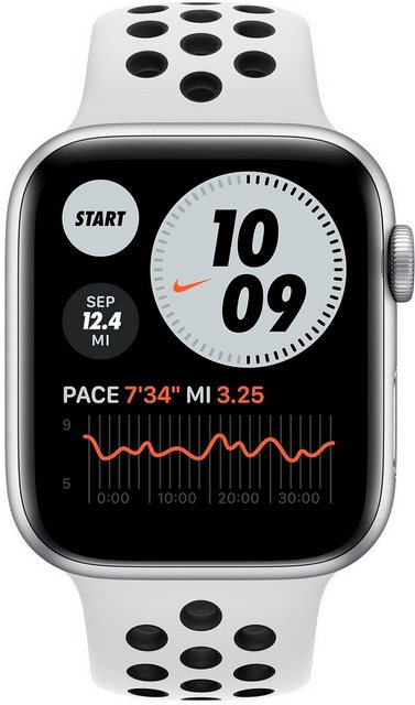 Smartwatches - Apple Nike Series 6 GPS Cellular, Aluminiumgehäuse mit Nike Sportarmband 44mm Watch (Watch OS, inkl. Ladestation (magnetisches Ladekabel)  - Onlineshop OTTO