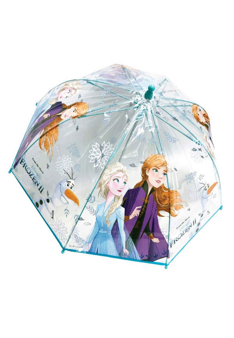 Disney Frozen Stockregenschirm »Eiskönigin Anna & Elsa Kinder Mädchen Regenschirm Kuppelschirm«, manuell
